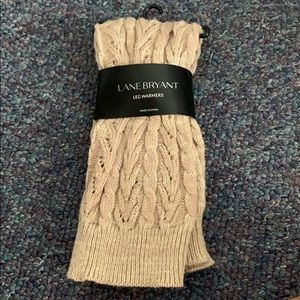 LANE BRYANT- Crochet Leg Warmers NWT!